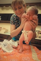 stepping reflex during the prenatal exam