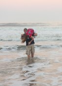 ....once the session was over, Jeff scooped up Ali and carried her into the ocean.